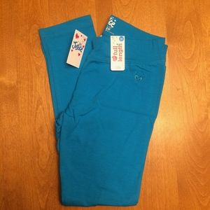 NWT Justice core color bright blue leggings
